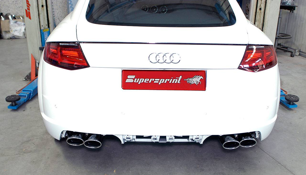 Supersprint tilepipe on Audi TT Mk3 2.0 TDI