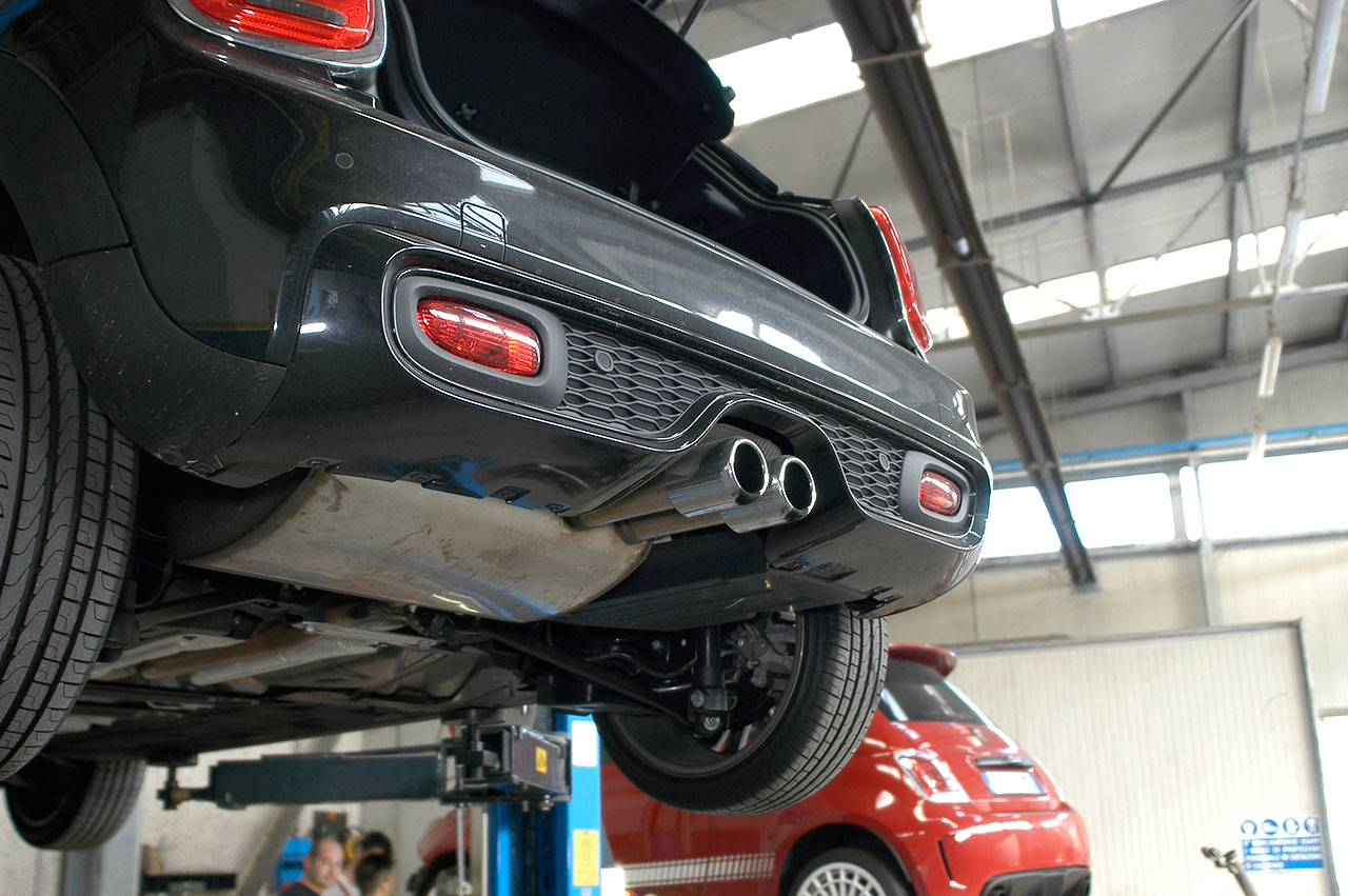 Stock exhaust Mini F55 Cooper S