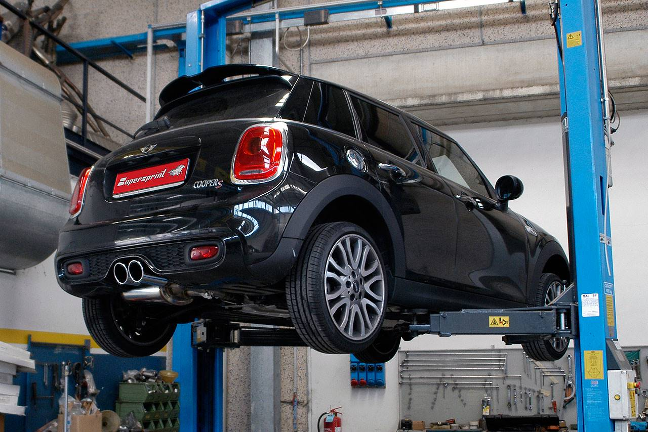 Supersprint valved exhaust for Mini F55 Cooper S 831212 + 832104 + 831826