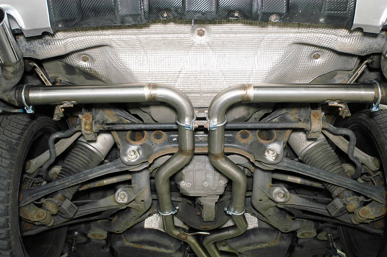 Supersprint centre pipes 887733 and rear pipes 244116 on Touareg 3.0 TDi