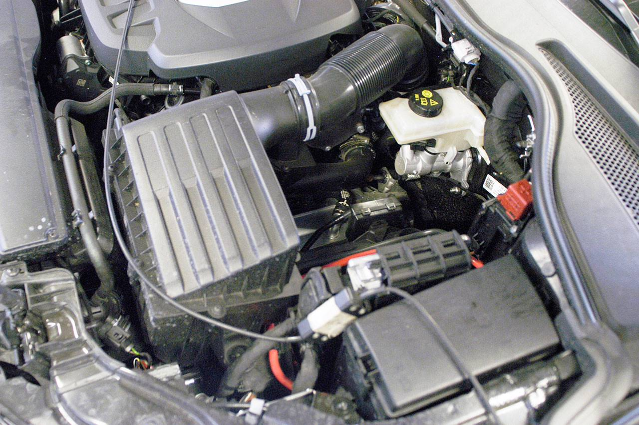 Audi TTS 8S Mk3 engine bay