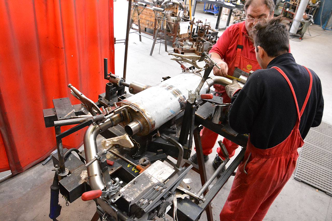Manufacturing of prototype of Supersprint exhaust with valve for Audi TTS 8S Mk3