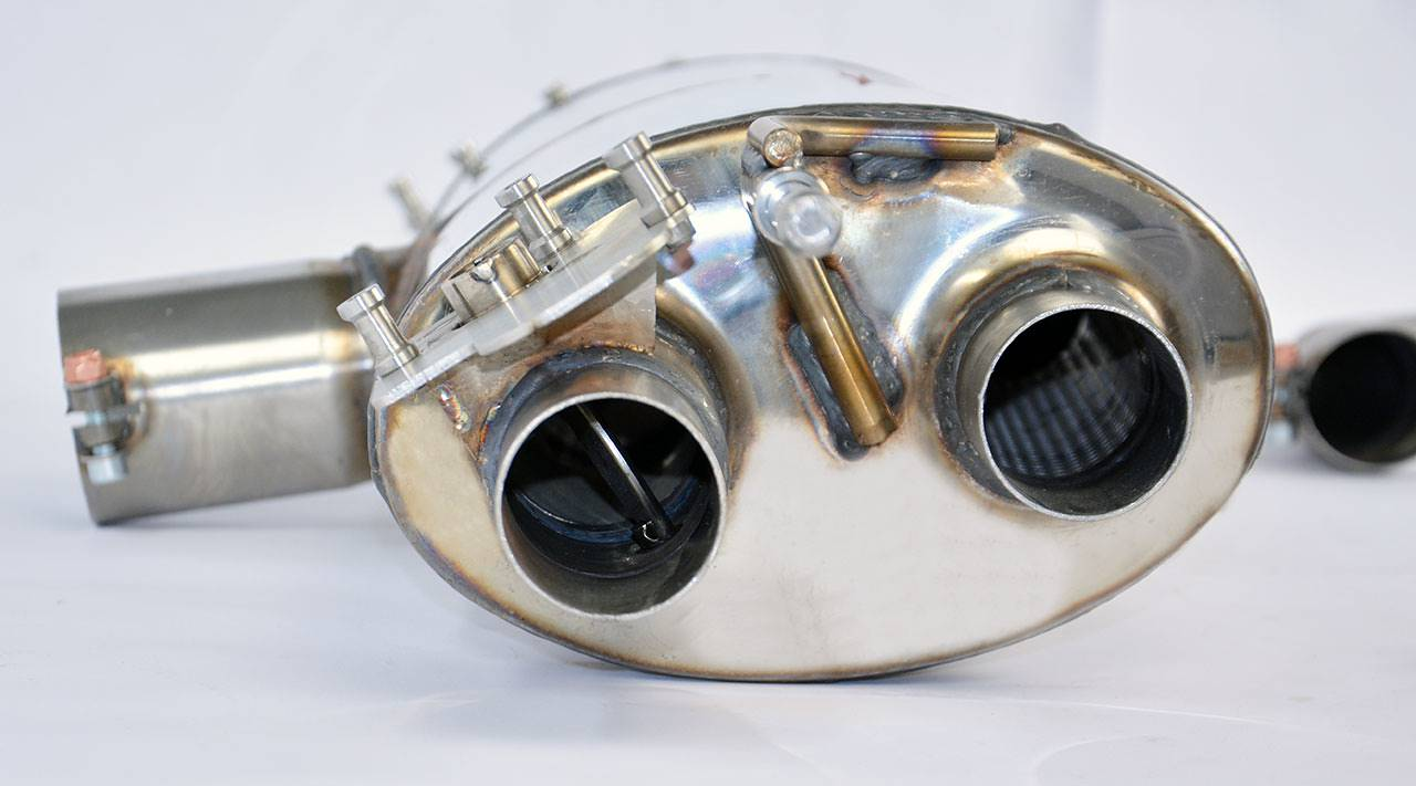Prototype of Supersprint exhaust with valve for Audi TTS 8S Mk3