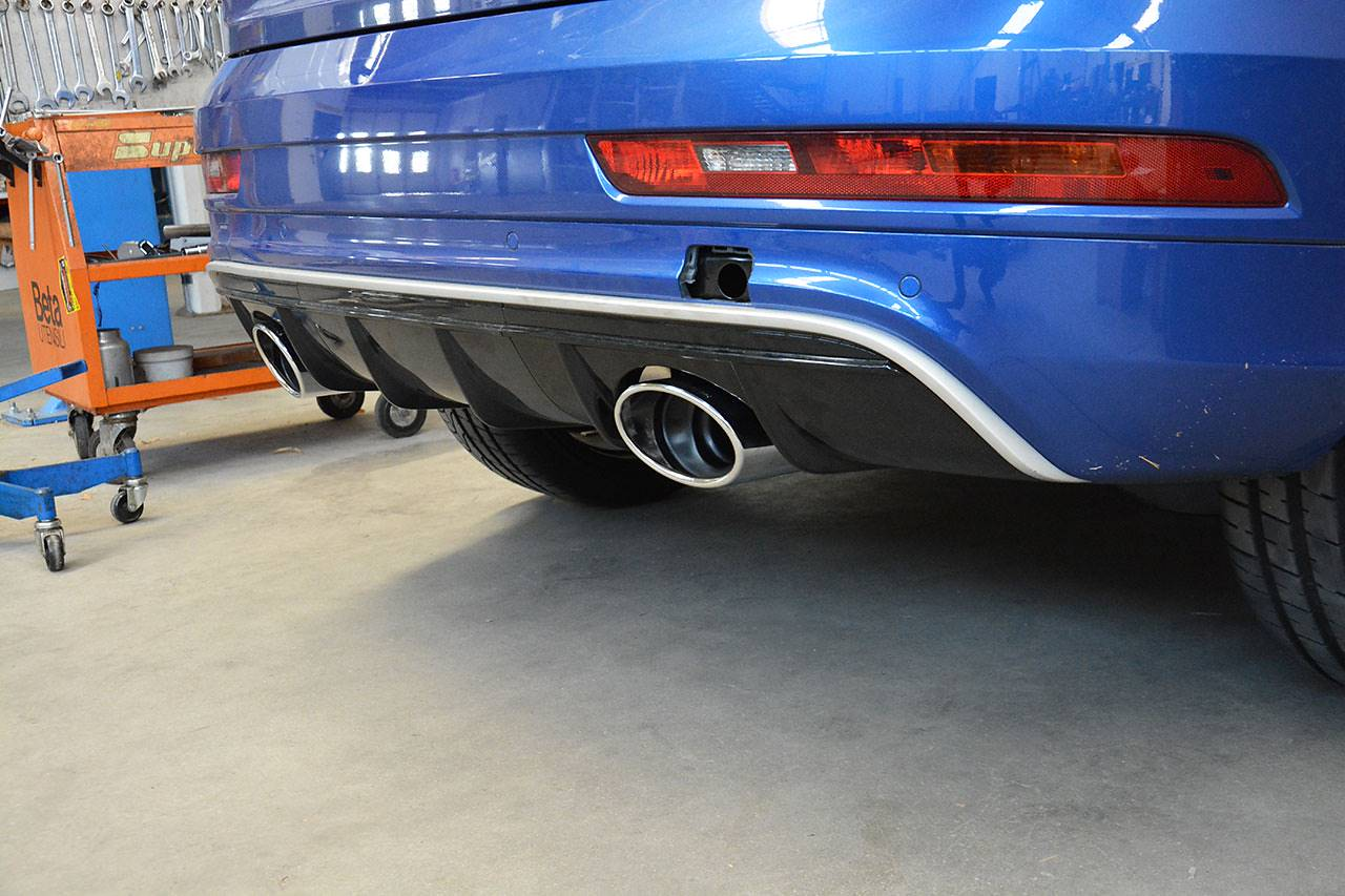New exhaust system for Audi RS Q3 with bypass valve and dual