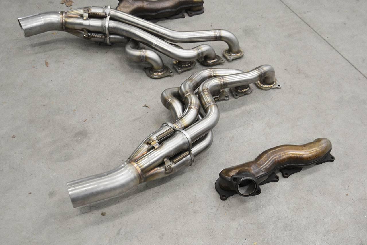 New Rhd Long Tube Headers For Mercedes C63 Amg W204 Sedan