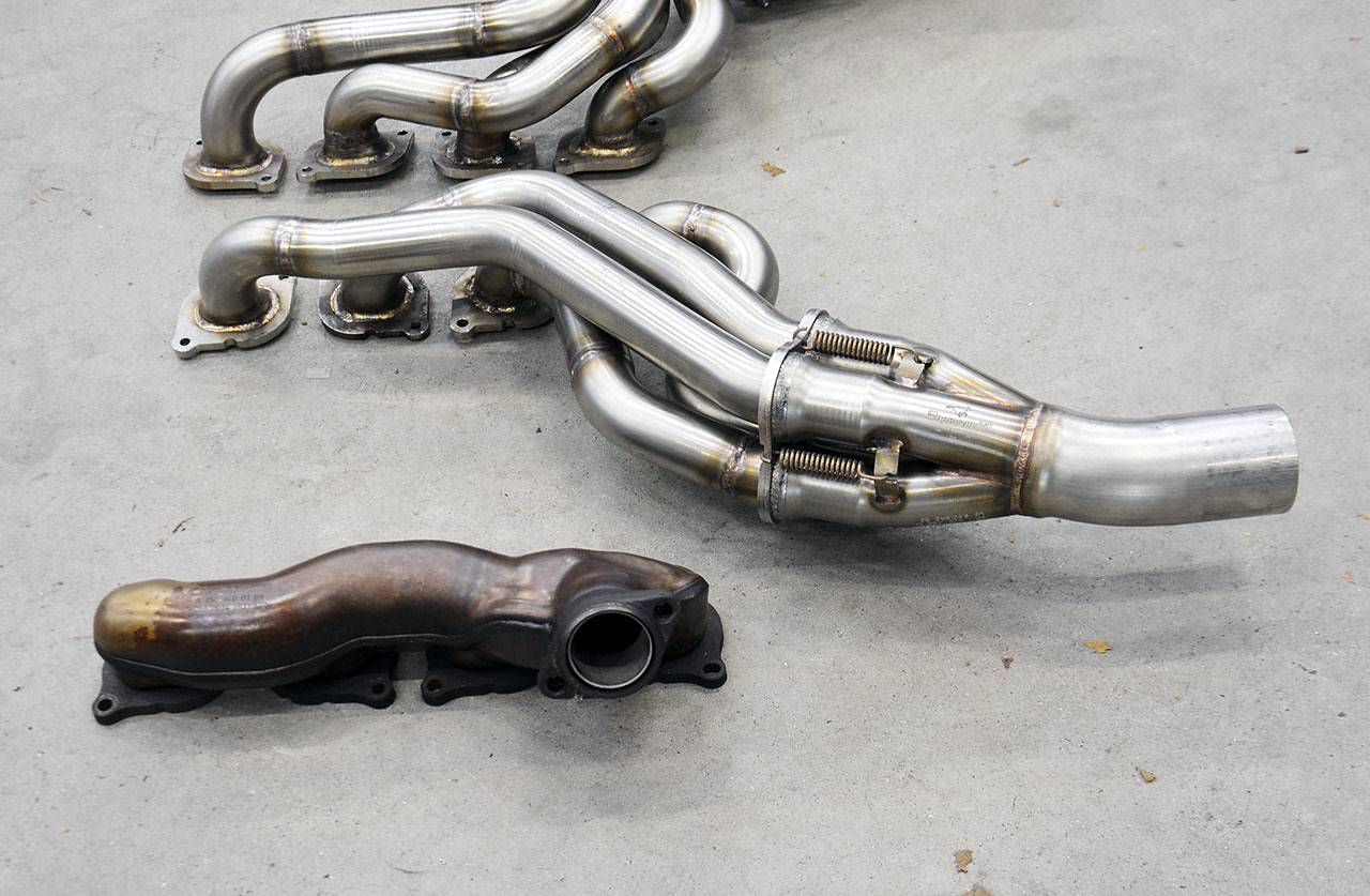 New Rhd Long Tube Headers For Mercedes C63 Amg W204 Sedan