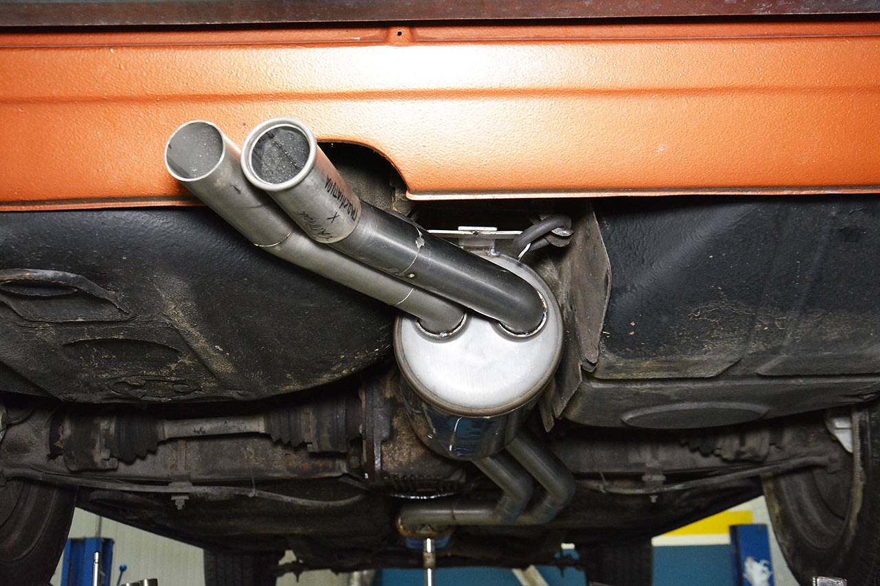 Stock tailpipe VS Supersprint sample Ø54mm