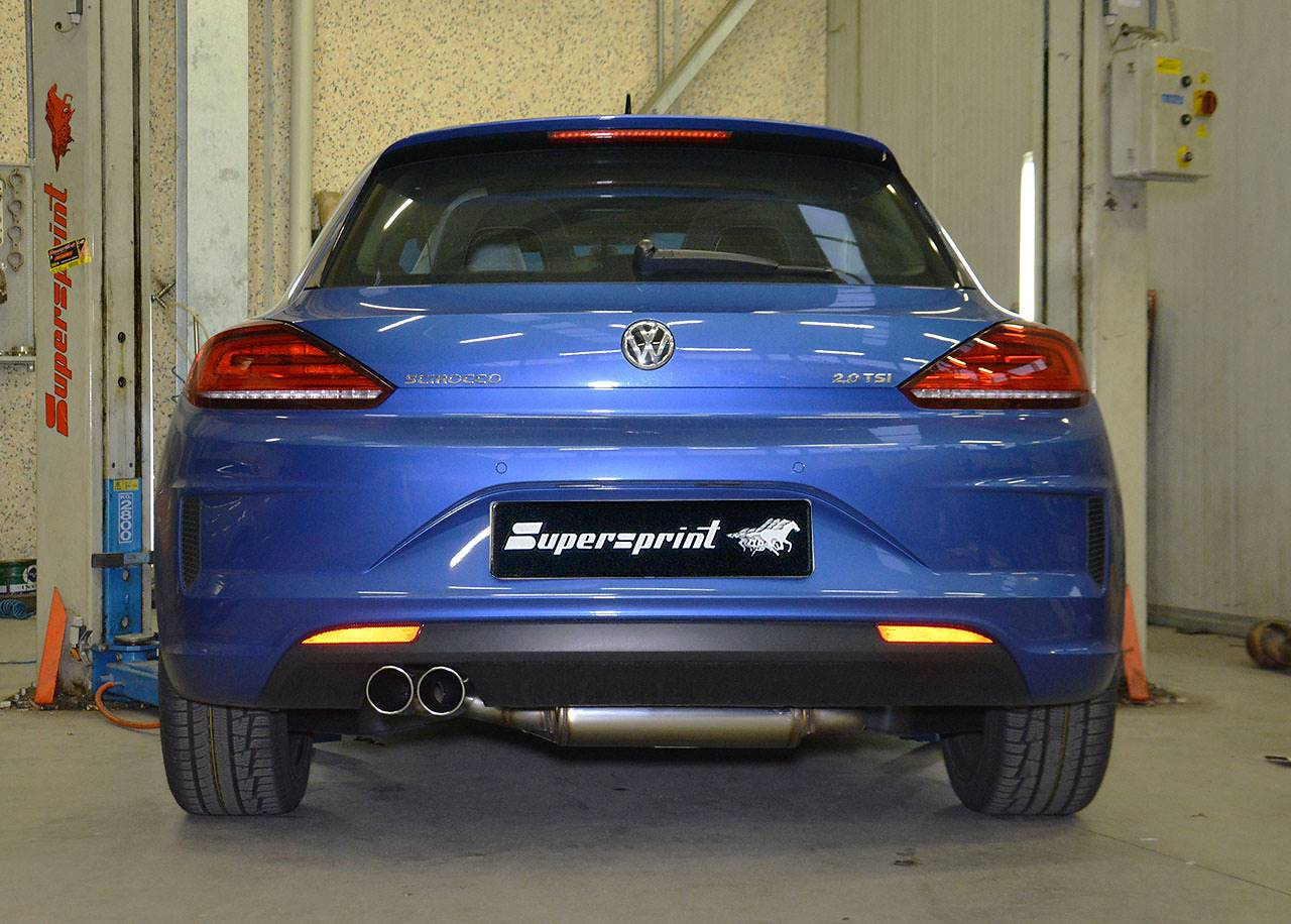 Supersprint rear muffler 765204 and tailpipes 2x80mm 914116 on Scirocco TSi 2015