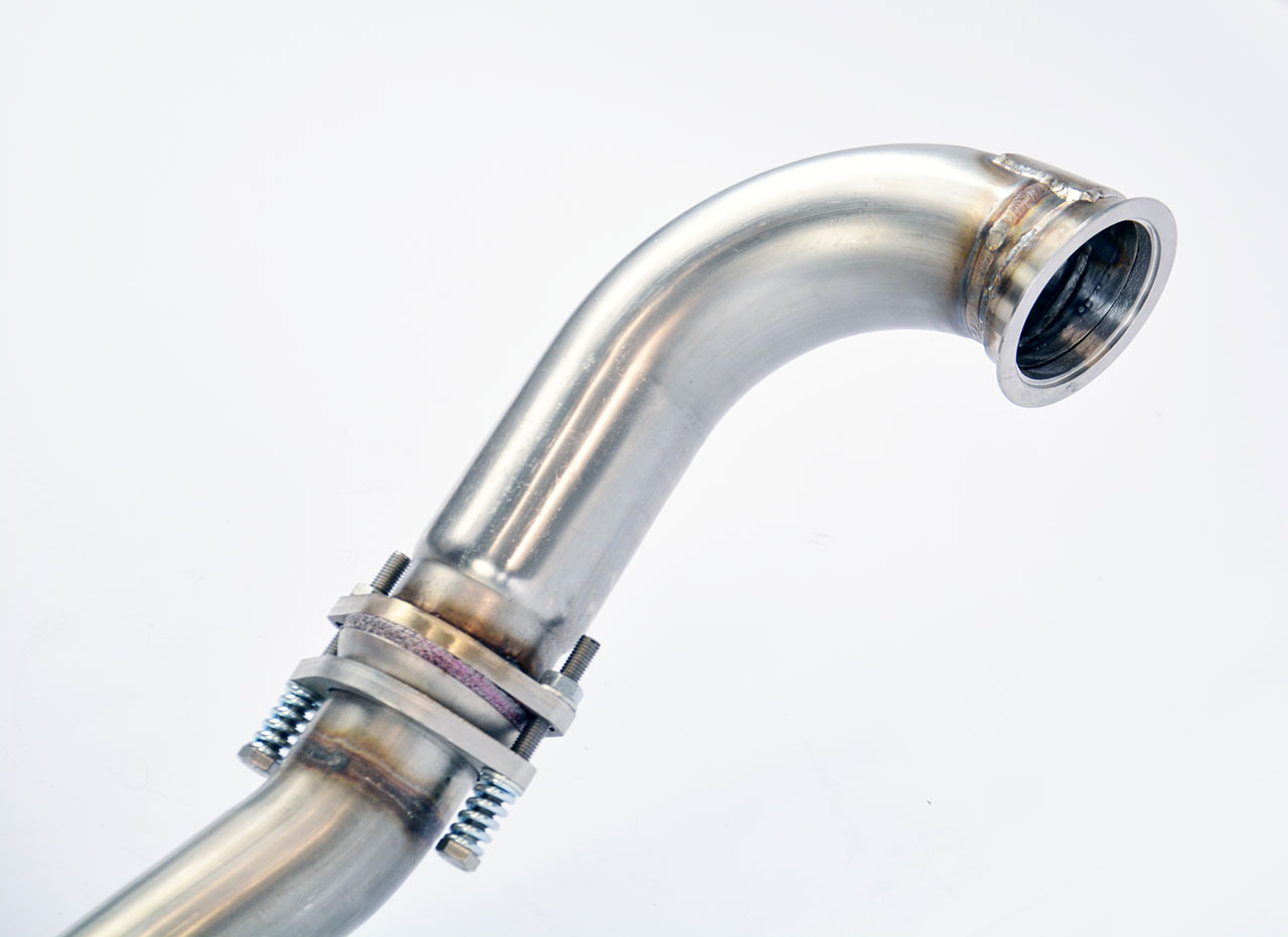 Supersprint detail of turbo downpipe 774711 / 774721 / 774741
