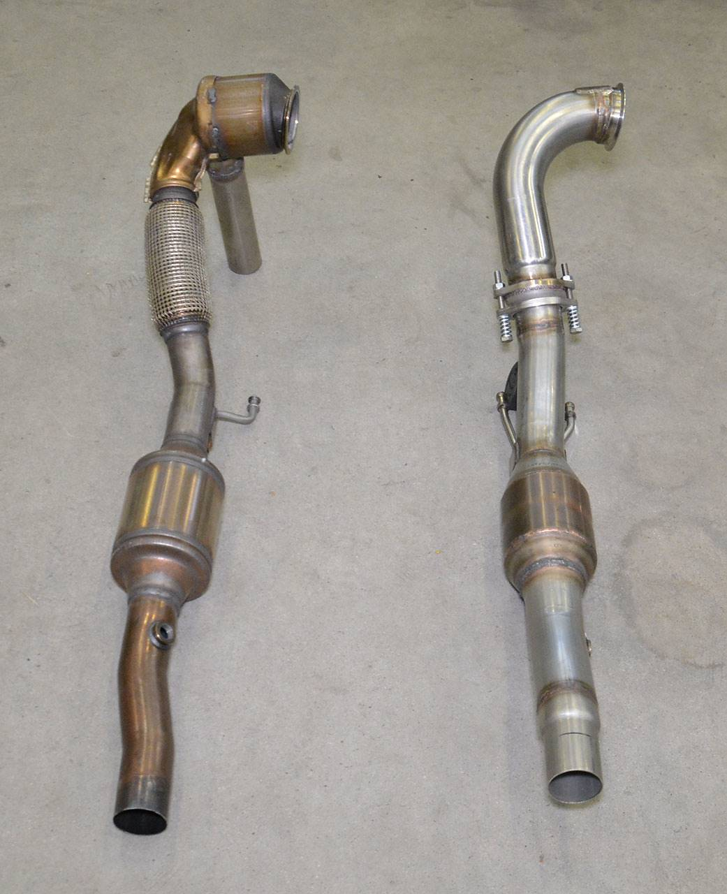 Supersprint downpipes 774741 VS Stock