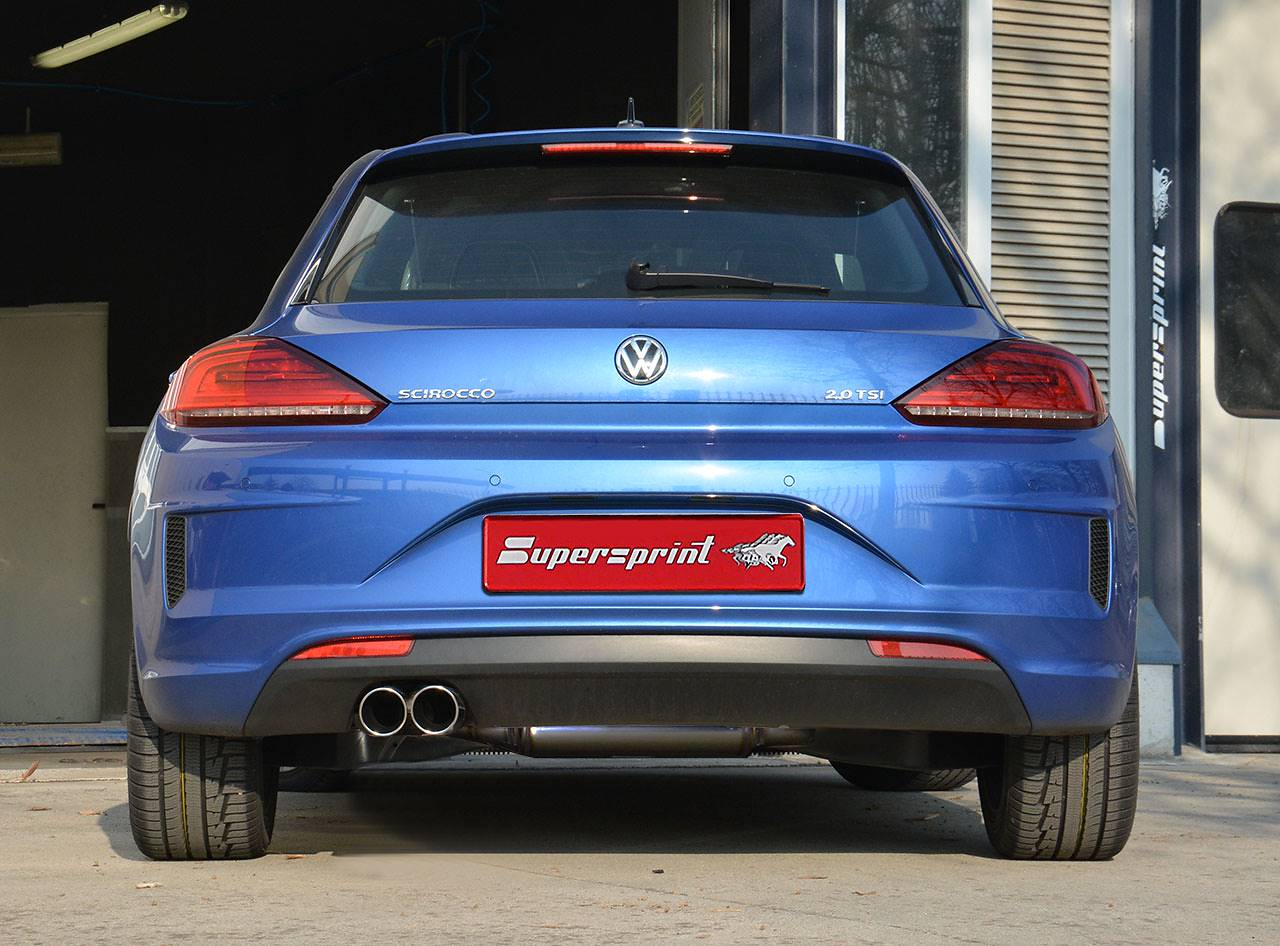 Supersprint rear exhaust 765204 and tailpipes 2x80mm 914116 on Scirocco TSi 2015