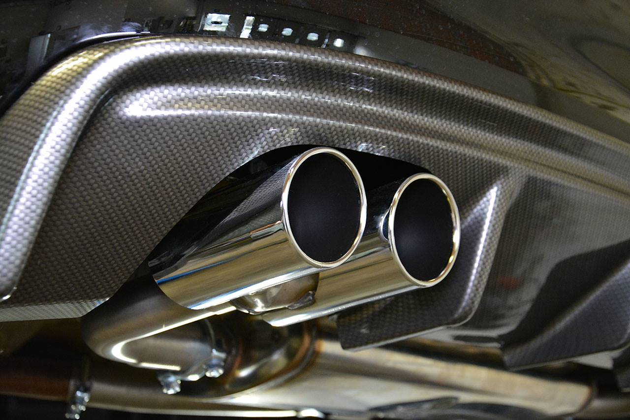 Supersprint tailpipe 2x80mm 765916 on Audi A3 8va with Rieger diffuser