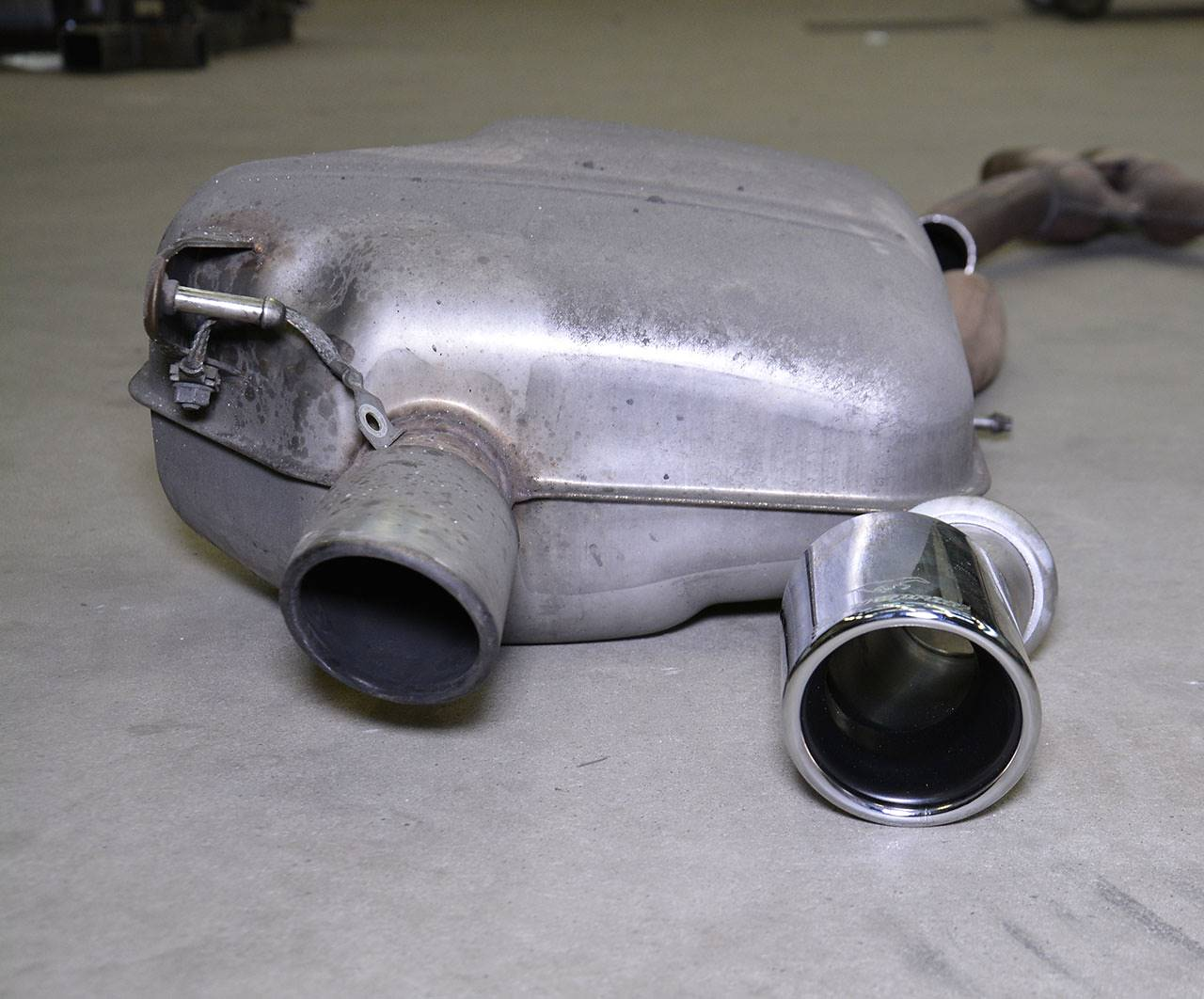 Stock tail pipe VS Supersprint tailpipe