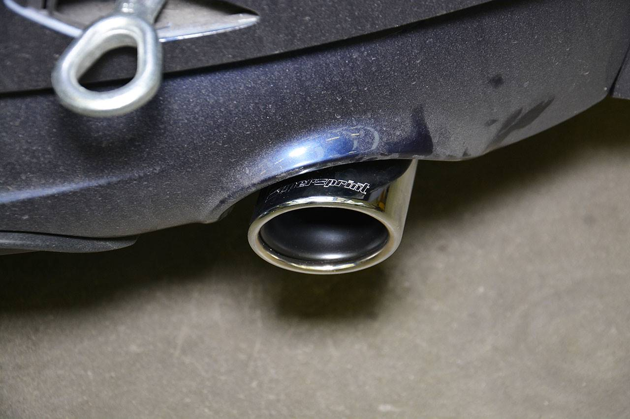 Detail of Supersprint tailpipe Ø 90 mm