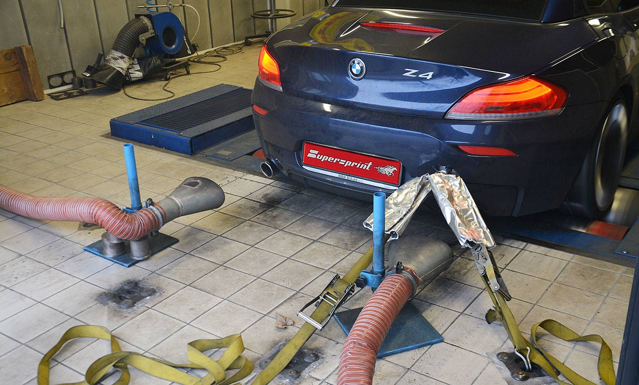 BMW E89 Z4 35is sDrive with Supersprint exhaust system - dyno testing