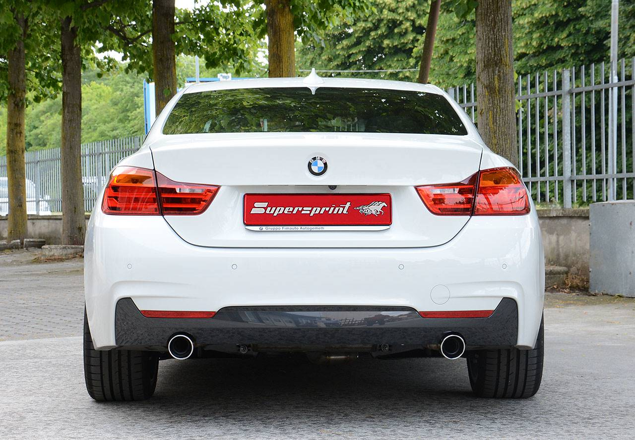 Supersprint rear exhaust Right O90 - Left O90 Cod:983704  on BMW F32 coupè 420d