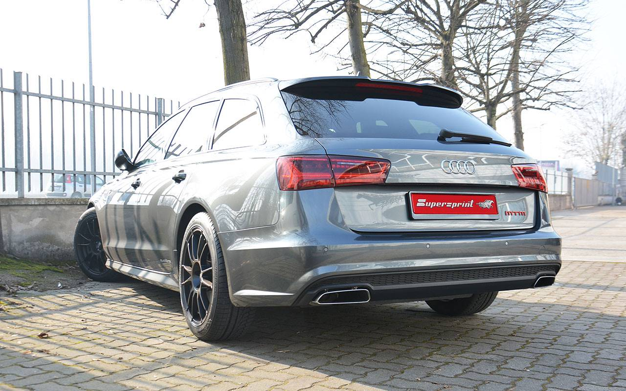 New Supersprint Exhaust System For Audi A6 4g 2017 3 0 Tdi