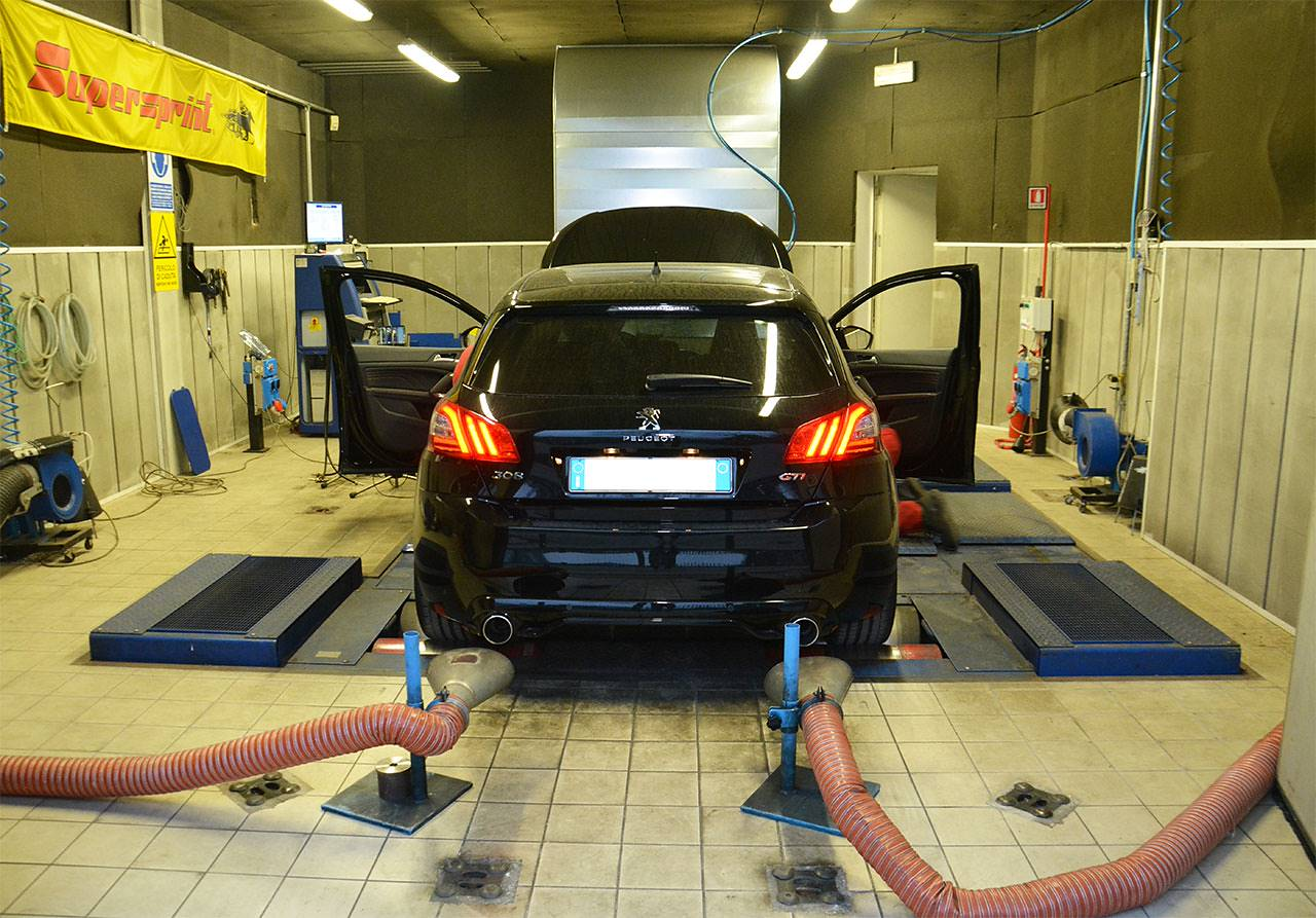 Peugeot 308 GTi 1.6 16v (270 Hp) - Dyno run with stock exhaust system