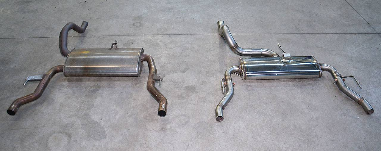 Stock rear exhaust VS Supersprint prototype