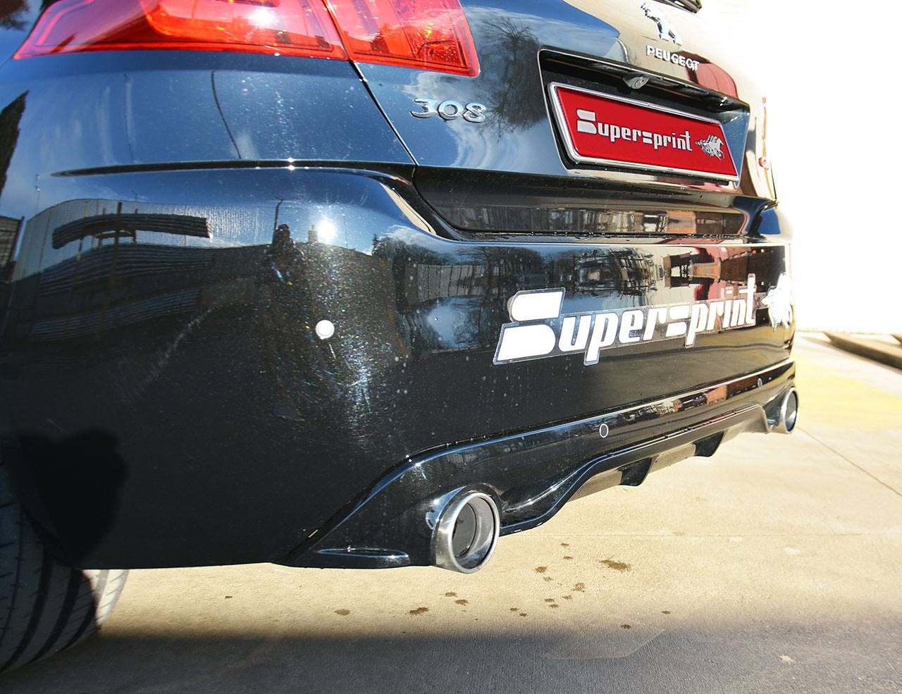 Supersprint full exhaust system installed on Peugeot 308 GTi (270 Hp)