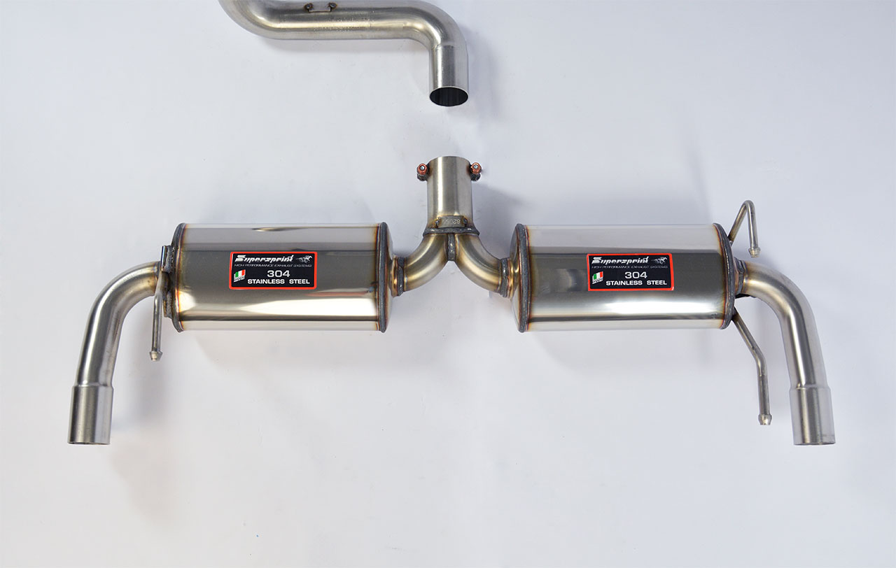 Sport Muffler For 500 Abarth Essesse 160hp Rear Exhaust