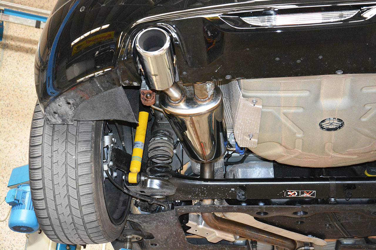 Supersprint sport exhaust fitted to Peugeot RCZ R