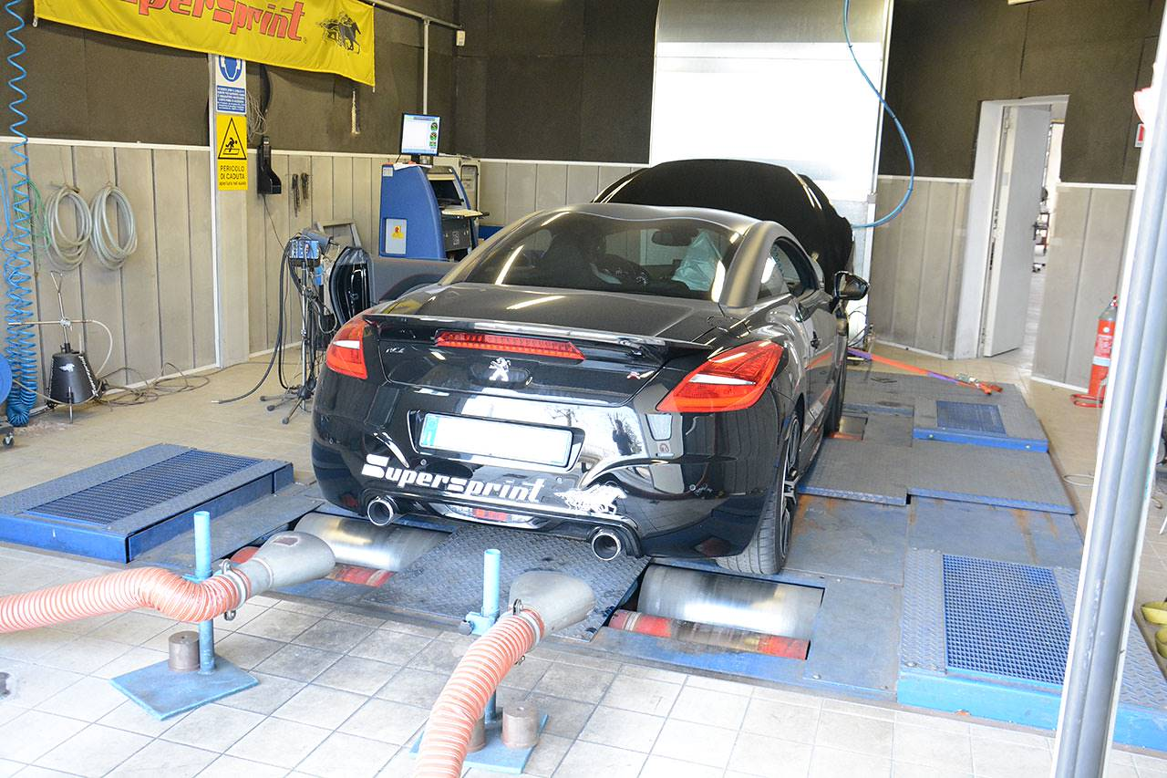 Supersprint full exhaust for RCZ R - dyno testing