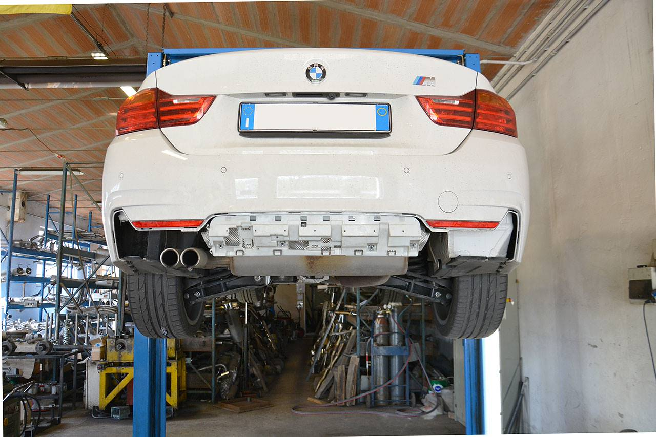Stock exhaust BMW F32 428i