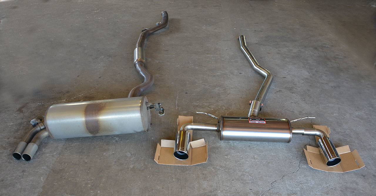 Stock exhaust  VS Performance sport exhaust Supersprint for BMW F32 428i with 100mm 435i-look tips -  987913 + 987924