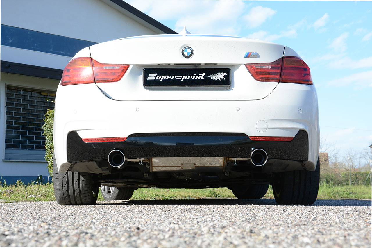 Performance sport exhaust Supersprint for BMW F32 428i with 100mm 435i-look tips -  987913 + 987924