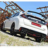 HONDA CIVIC 2.0i Turbo TYPE-R (310 PS) - Supersprint komplett-Auspuffanlage mit Klappe