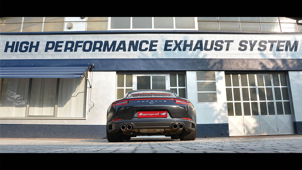 Porsche Carrera 4S 991 3.0i Turbo (420 Hp) sound with Supersprint Cat-back system with bypass valve