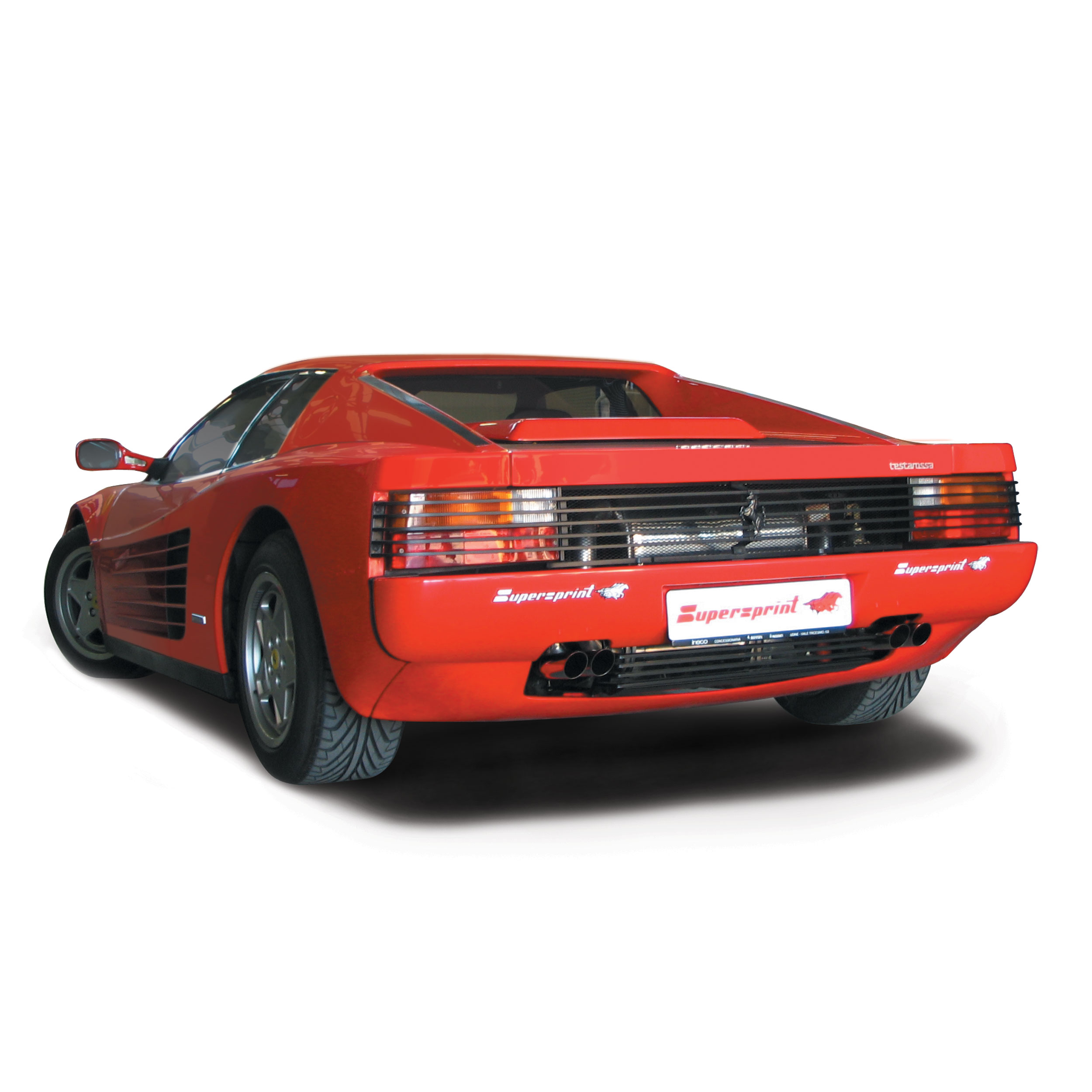 Performance Sport Exhaust For Ferrari Testarossa Ferrari