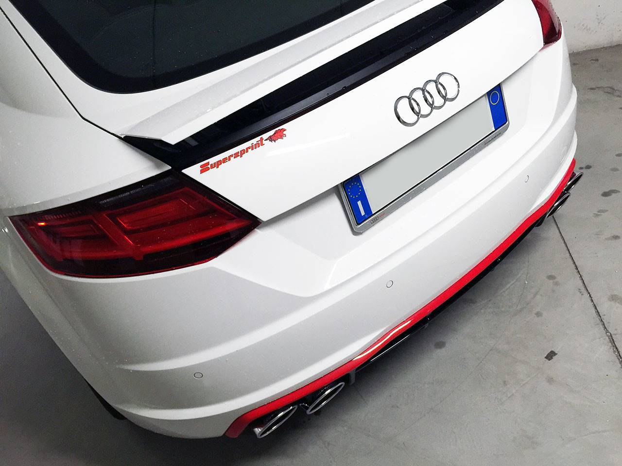 Supersprint sport exhaust on Audi TT Mk3 2.0 TDI