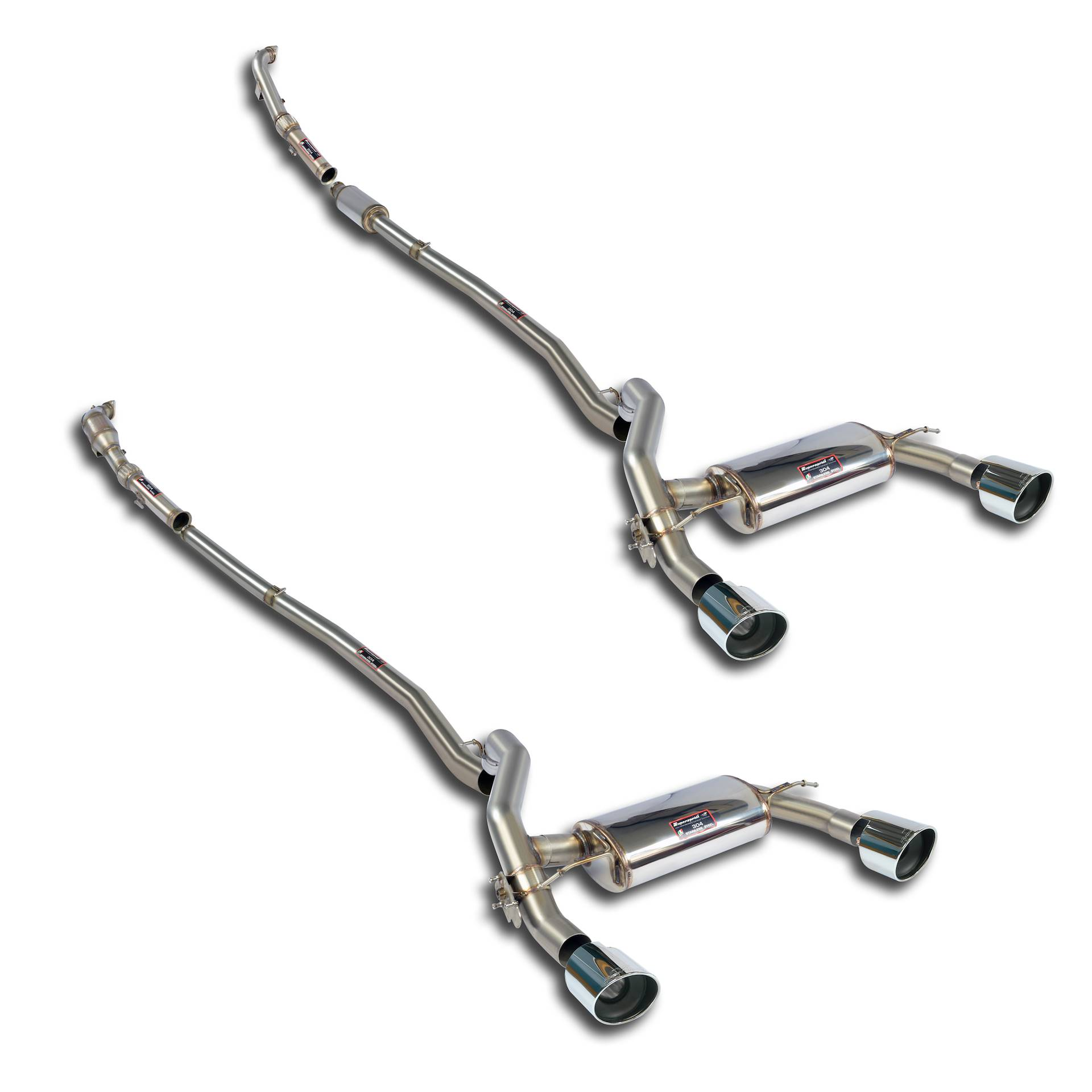 performance sport exhaust for ford focus rs mk3 with valve