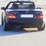 MERCEDES R170 SLK 230 Kompressor sound con impianto di scarico Supersprint