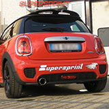 Mini Cooper F56 with Supersprint exhaust: centre pipe and rear muffler