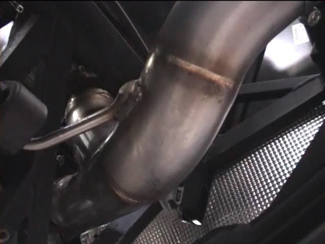 2into1 merging pipes, one branch from the silencer, one from the bypass valve, to connecto to the SS tailpipes