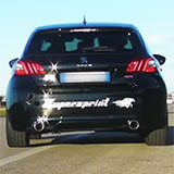 PEUGEOT 308 GTi SOUND with Supersprint full exhaust system
