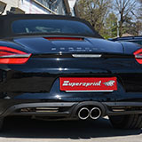 New performance exhaust for Porsche 981 Boxster and Cayman