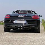 Porsche Boxster S 981 Sound with Supersprint valvetronic exhaust