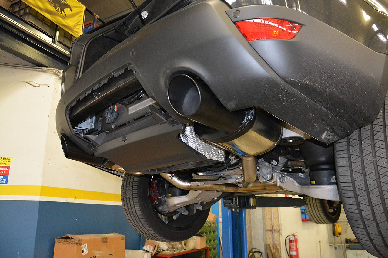 Range Rover Sport mk2 L494 5.0 Supercharged - Sport exhaust development by Supersprint - rear mufflers with 120mm matte black tips