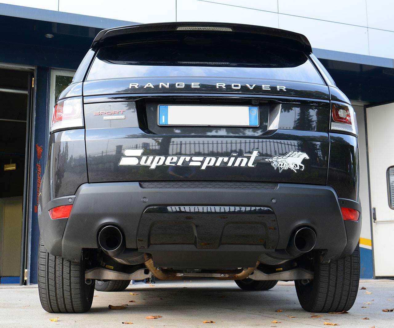 Range Rover Sport mk2 L494 5.0 Supercharged - Sport exhaust Supersprint - 120mm matte black tailpipes