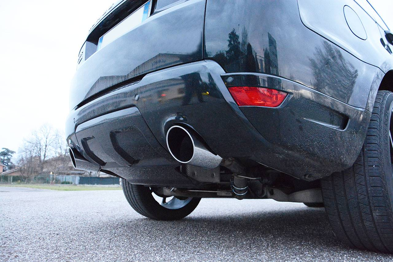 Range Rover Sport mk2 L494 5.0 Supercharged - Sport exhaust Supersprint - 120mm chrome tailpipes