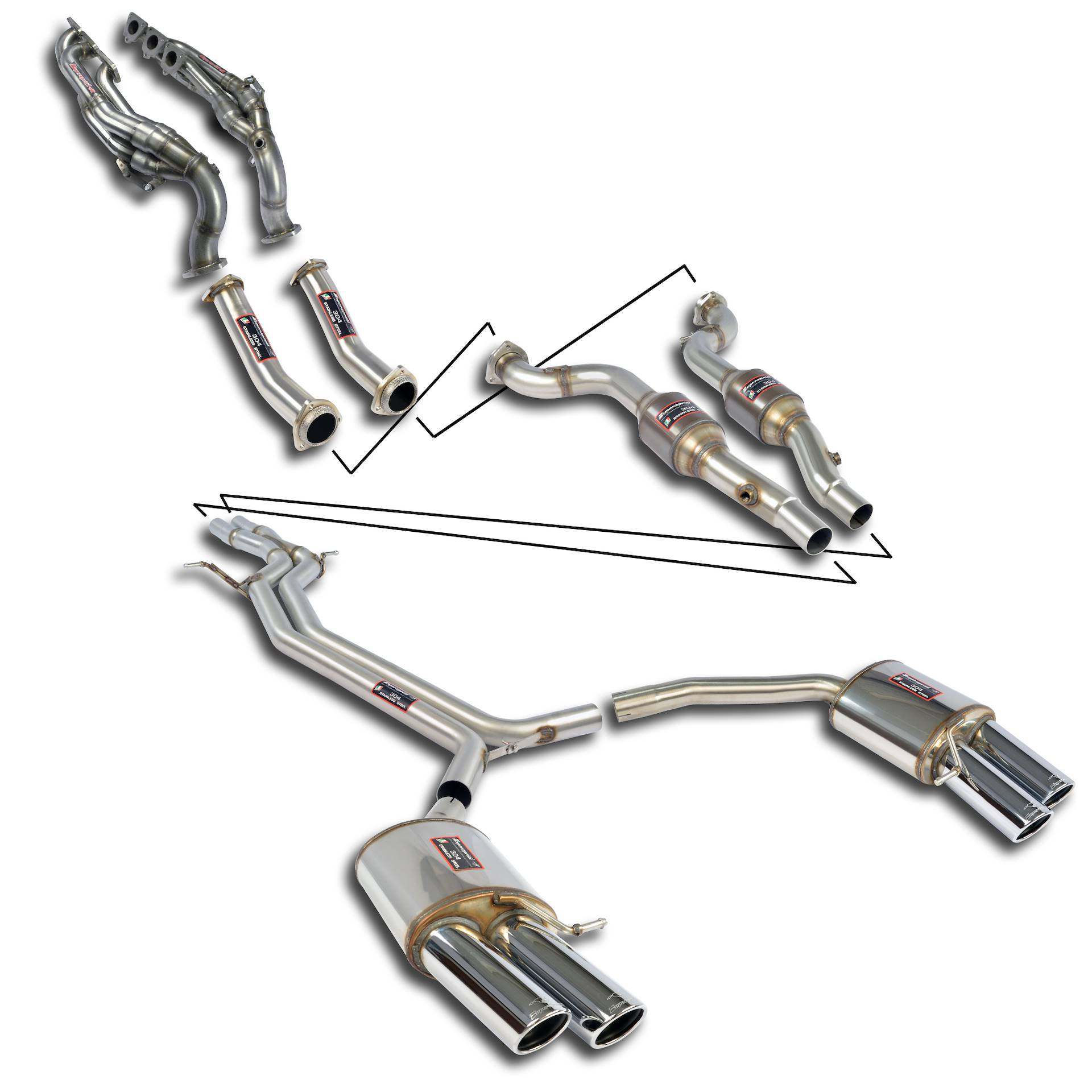 performance sport exhaust for audi s4 b8  audi s4 quattro