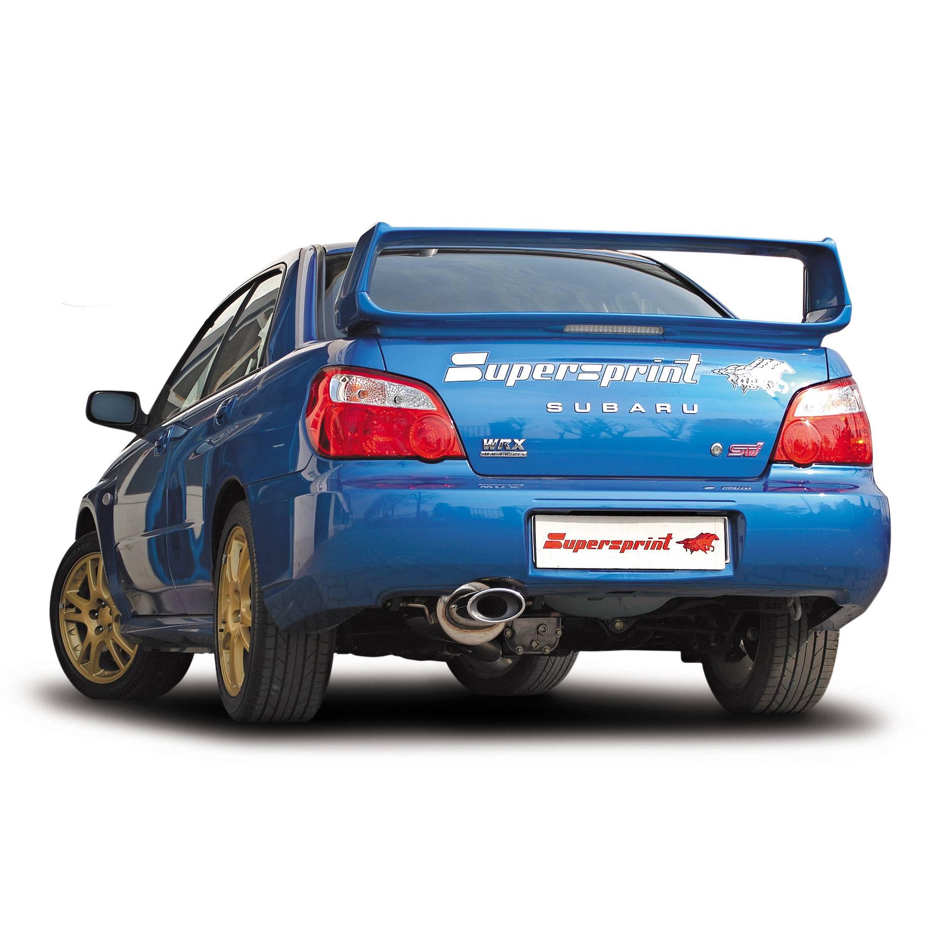 performance sport exhaust for subaru impreza wrx sti 2 0i turbo rh supersprint com