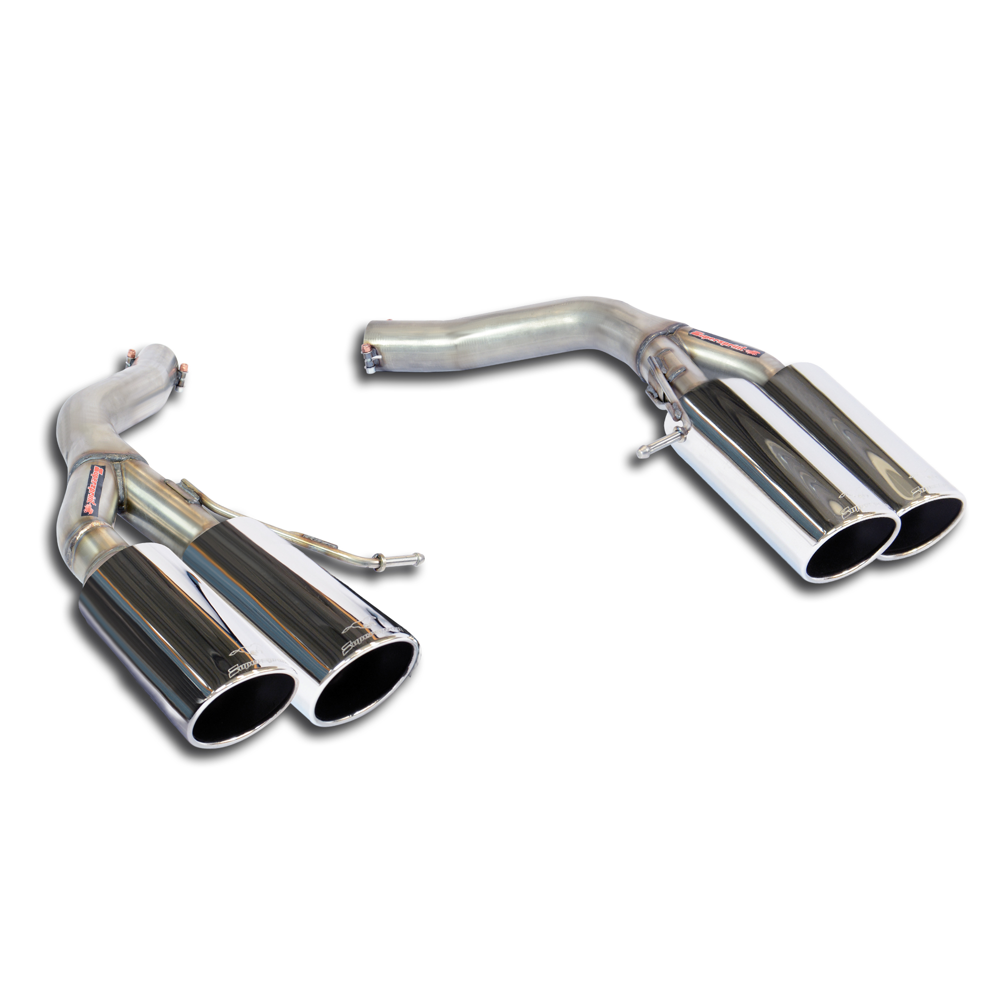 BMW - BMW F01 / F02 / F03 750i xDrive V8 '09 -> 2012 Rear pipes Right OO90 - Left OO90<br>(Muffler delete), performance exhaust systems