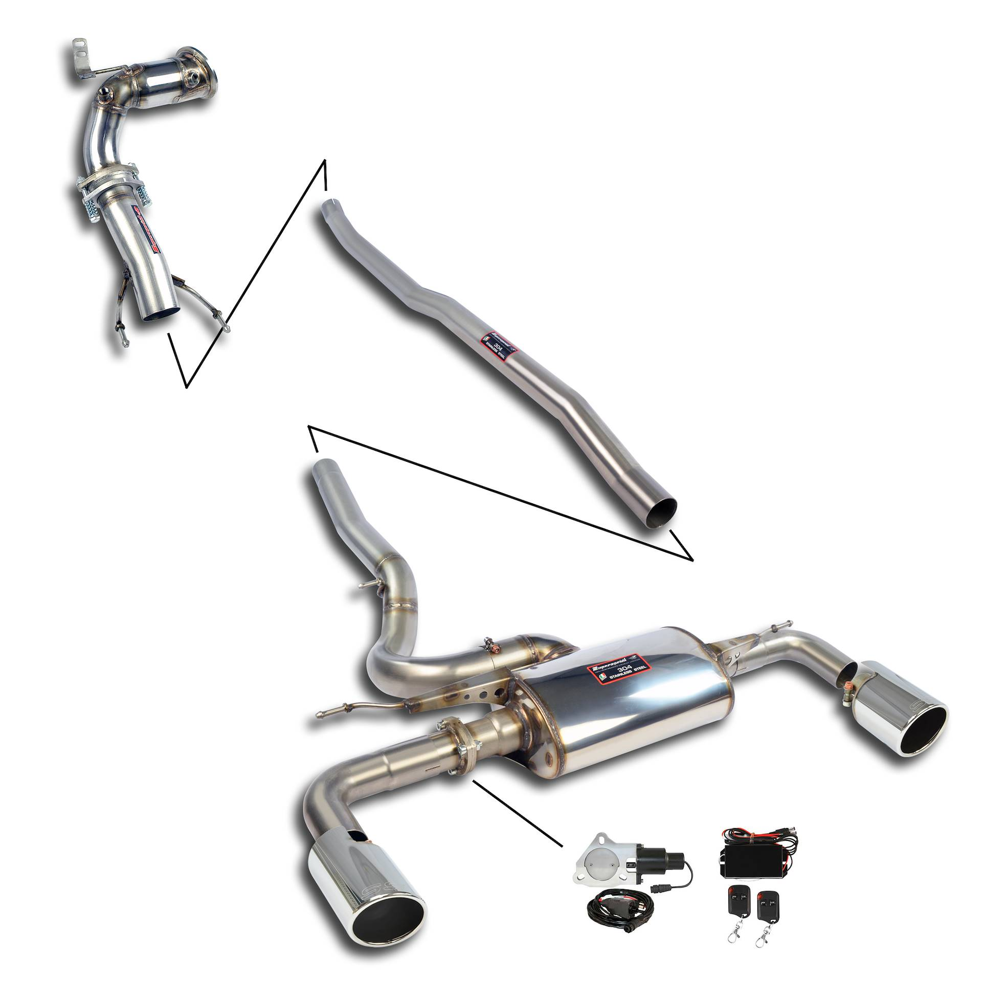 Performance sport exhaust for MINI F54 Cooper S Clubman JCW
