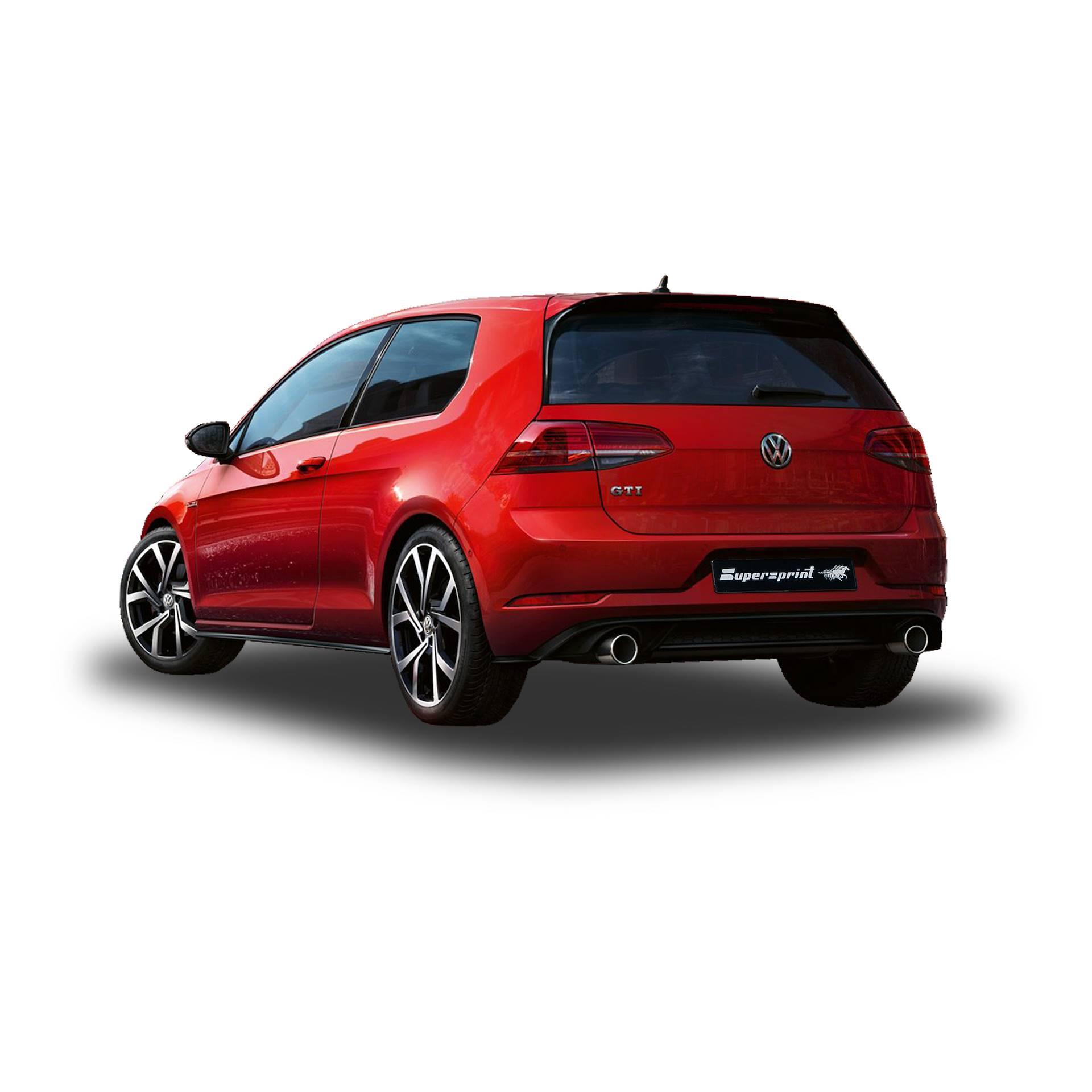 Supersprint Downpipes og udstødning til VW Golf 7 GTI 245 HK