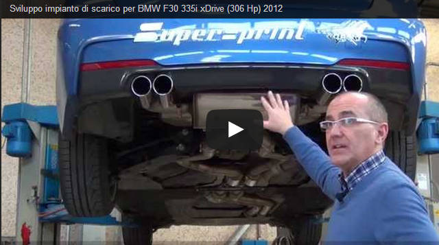 Exhaust system development for BMW F30 335i xDrive (306 Hp) 2012